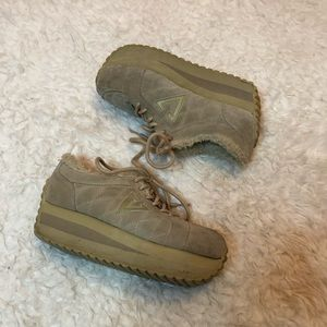 Vintage Volatile Tan Platform Sneakers